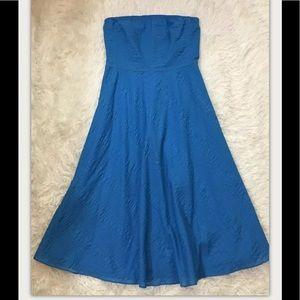 J. Crew Blue Strapless Dress 4